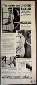 Lordosis Backline 1930s ad