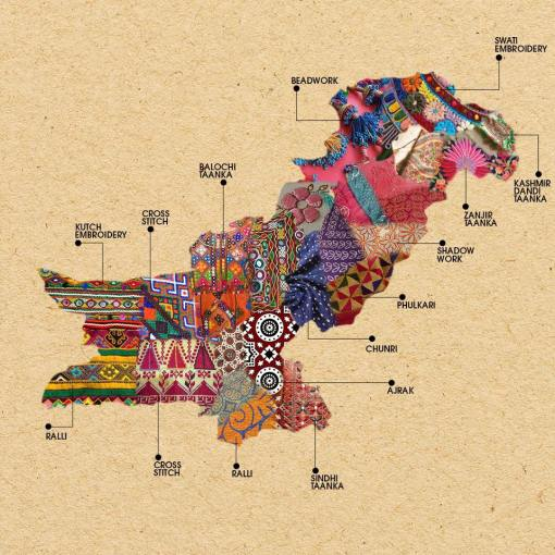 Pakistan embroidery map 2017